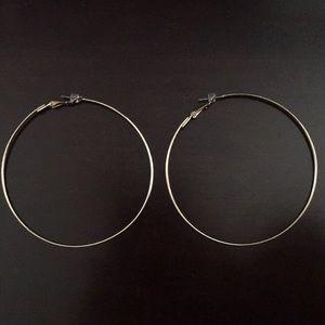 Large gold hoop earrings from Nordstrom BP, NWOT